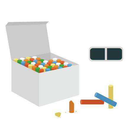 Chalk box illustration material