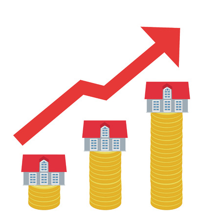 Increase of property prices Banque d'images - 107210131