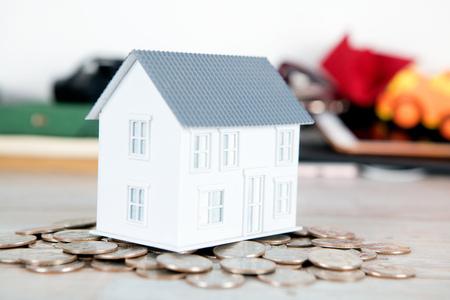 Small house on dollar coin