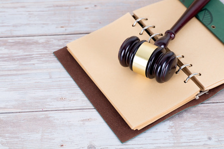 Opened book and the law above Stock Photo