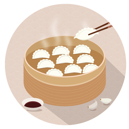 Dumplings illustration