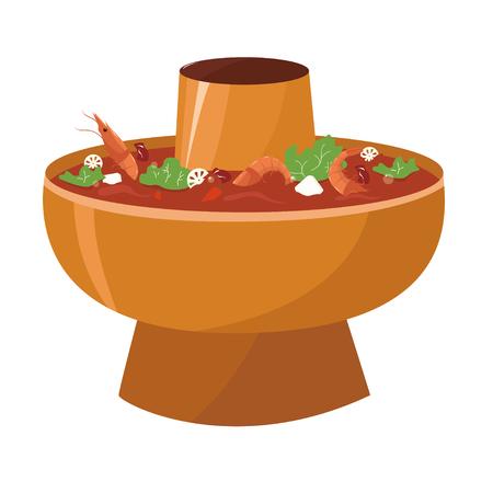 Hot pot illustration material Illustration