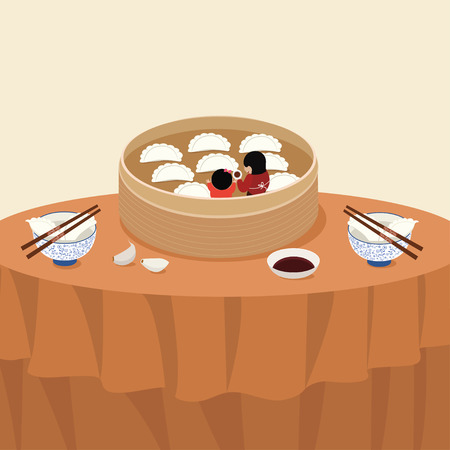 Dumplings illustration
