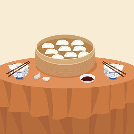 Dumplings illustration material