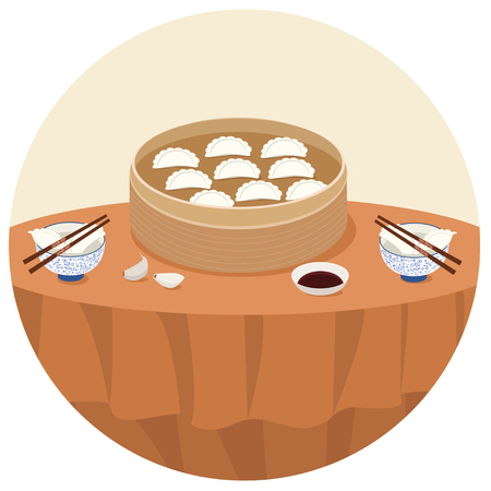 illustration of dumplings
