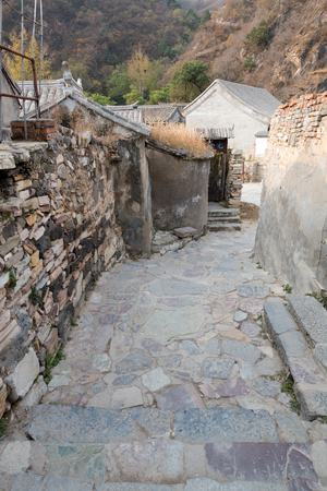 Beijing, the ancient village of Ming and Qing Dynasties Stock Photo