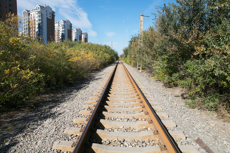 Traffic line railway track