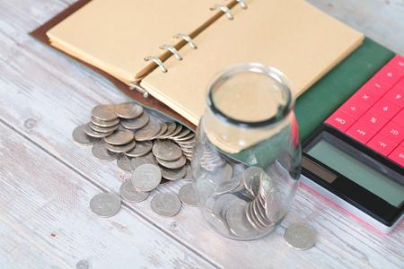 Financial savings still life Imagens