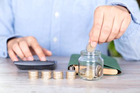 Financial savings concept Imagens