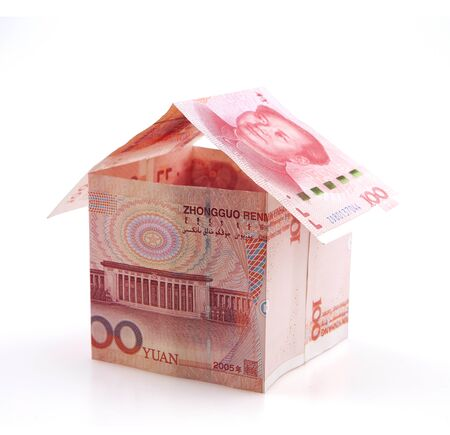 Small house of banknotes Standard-Bild
