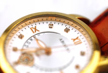 Watch dial close-up