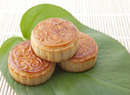 Moon cakes , refreshments of mid autumn festival