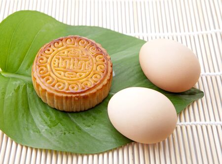 Moon cakes and eggs