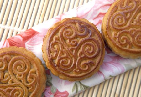 Moon cakes, refreshments of mid autumn festival