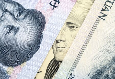USD and RMB banknote