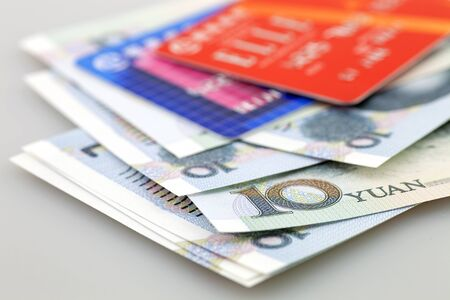 Bank card with banknote