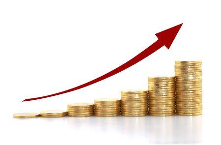 finacila Growing concept, coins