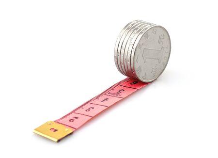 financial management concept, Coins ruler