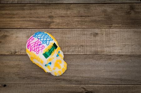 メキシコのお菓子メーカーが製造した典型的な糖の頭蓋骨。