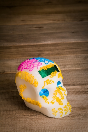 Typical Sugar Skull made by mexican candy manufacturers.