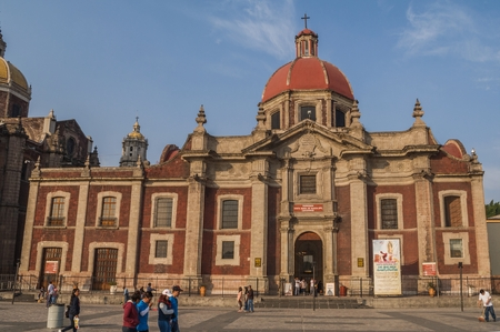 VILLA OF GUADALUPE, MEXICO CITY, DECEMBER 02, 2017 - Temple and Exconvent of the Nasturtiums built by the Architect Ignacio Castera between 1792 and 1797. 에디토리얼