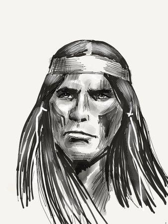 Native american portrait Reklamní fotografie