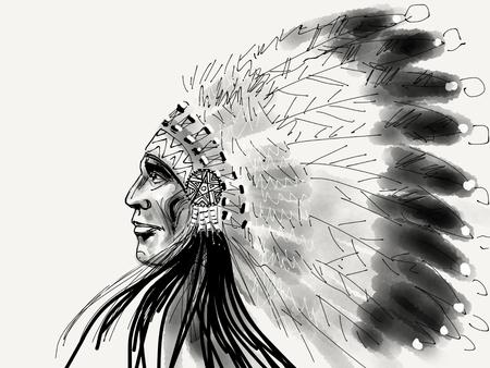 아메리카 원주민 세로 수석