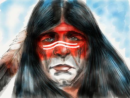 Native american portrait 免版税图像