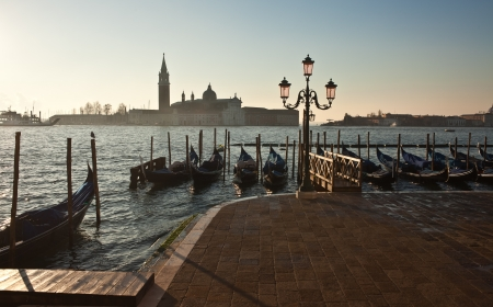 San Giorgio Maggiore view at morning light. Venice. photo