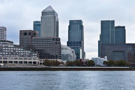Centre of global finance  Canary Wharf  London