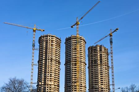 housebuilding: Housebuilding panorama Stock Photo