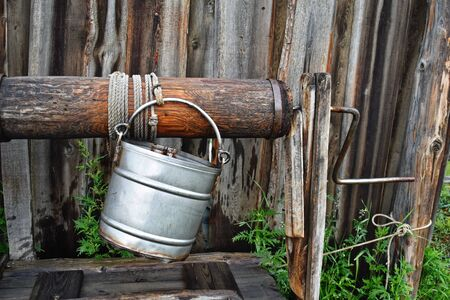 Natural clean water from the well. Country Eco Life