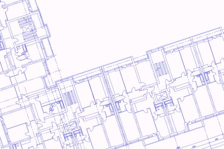 Illustration of a construction drawing for a construction company. Architectural abstract design.
