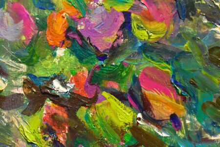 A piece of art canvas. Work with a palette knife.
