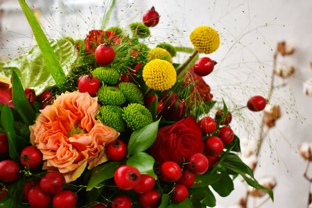 Flower arrangement as a gift. Flowers for mothers day and womens day. Spring flowers for the woman you love. Bouquet for a flower shop.