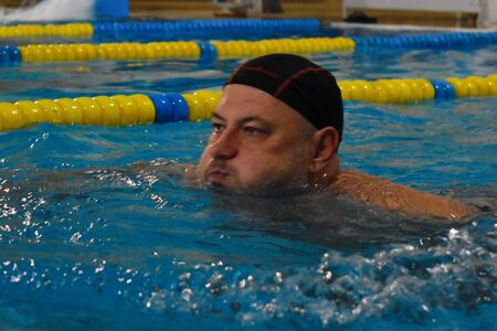 Swimming lessons for adults. Active lifestyle for health.