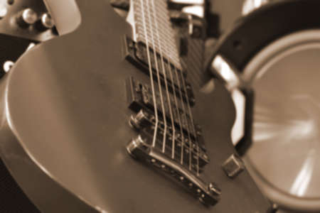 Electric guitar. Music and melody. Singing to the music. string melody.