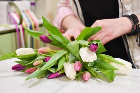 Floral school. Floral master class. Learning floral art. Flower salon.