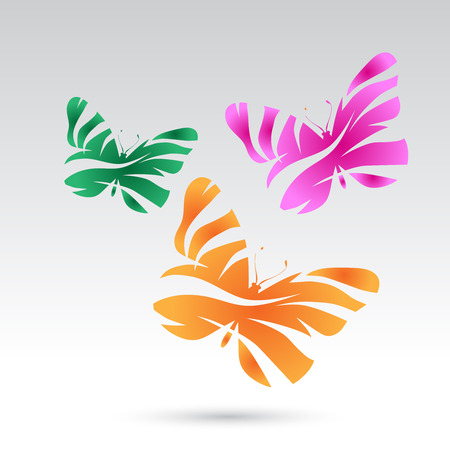 butterfly background: Vector colorful butterflies.