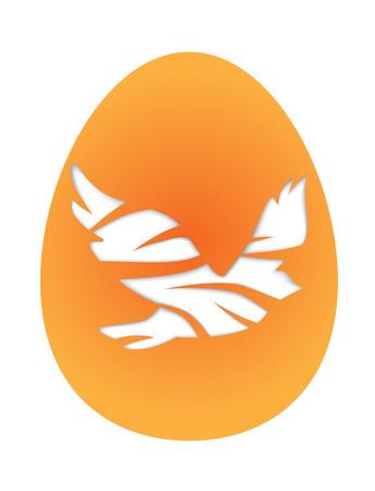 pigeon egg: Easter egg with pigeon. Illustration