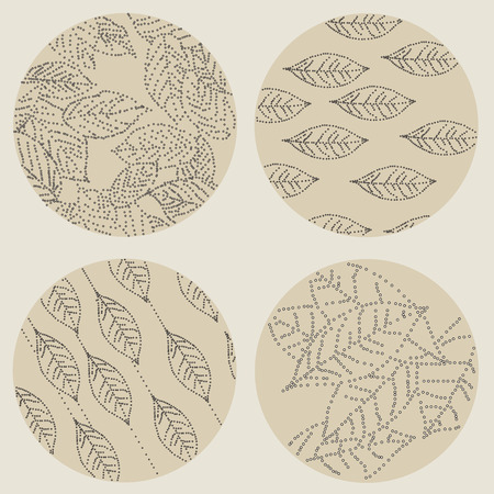 circl: Abstract background with leaves. Vector Illustration.