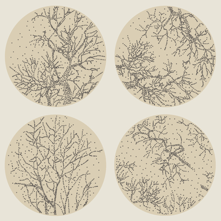 circl: Abstract background with branches. Vector Illustration.
