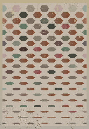 Abstract retro geometric background. Vector Illustration