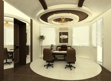 construction of the ceiling in the interior of the office Stock Photo - 9897166