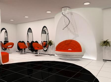 peluqueria: Outlook 3D del Salón de belleza de lujo Foto de archivo
