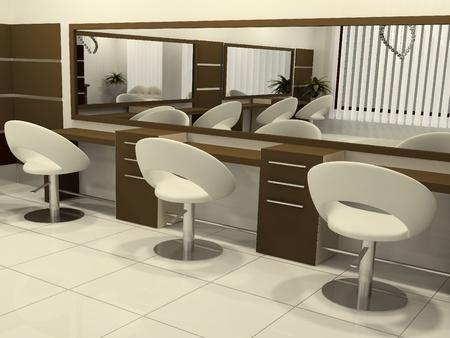 peluqueria: Perspectiva 3D de peluquer�a Interior