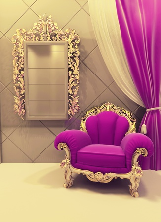 Royal  furniture in a luxurious interior Stock Photo