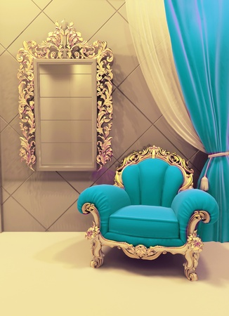 baroque room: Royal  furniture in a luxurious interior Stock Photo