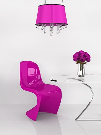 #10099625   Modern Chair In Minimalism Interior. Furniture. Loft. 3D  Render. Liknande Bilder