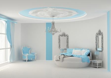 Round bed in baroque bedroom Stock Photo - 10300761
